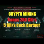 HOT! NEW CRYPTO MINING | FREE 200 GH/s | 5 Gh/s Each Partner