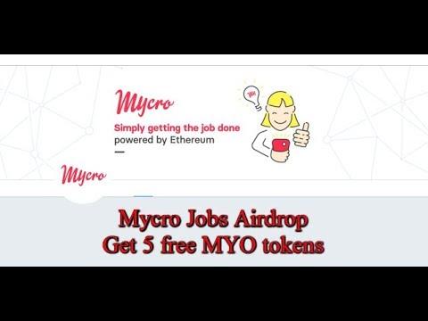 Mycro Jobs Airdrop| Get 5 free MYO tokens
