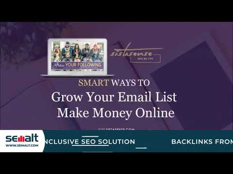 Smart Way to Build Your Email List and Make Money Online - Semalt