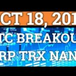 BITCOIN BREAKOUT ONLY A MATTER OF TIME? RIPPLE XRP, TRON, NANO, BNB PRICE + CRYPTOCURRENCY NEWS 2018
