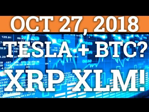 BUYING A TESLA WITH BITCOIN BTC? | RIPPLE XRP, XLM NEWS! | COINBASE IPO! (CRYPTOCURRENCY PRICE 2018)