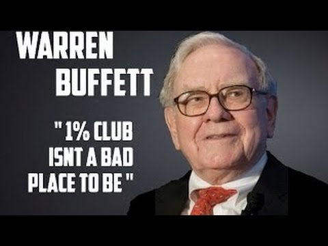 WARREN BUFFETT Laughs & Jokes About The 1% CLUB. Doesn't Want To Join 99% CLUB