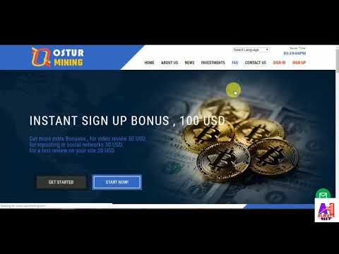 NEW HIGH BITCOIN MINING// INSTANT SIGN UP BONUS 100 $ USD//JOIN NOW