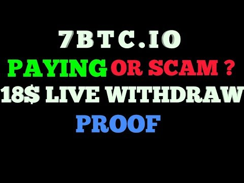 7BTC.IO - EARN BITCOINS PAYING OR SCAM? - 18$ LIVE WITHDRAW PROOF TAMIL