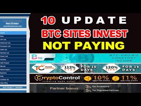 UPDATE 10 BITCOIN HYIP SITES NOT PAYING 2018 (SCAM)