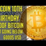 BITCOIN 10TH ANNIVERSARY!!And PROOF why BTC will not go below 6000$