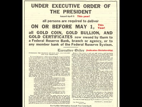 Executive Order 6102: Turn In All Gold Coins and Gold Bullion by May 1