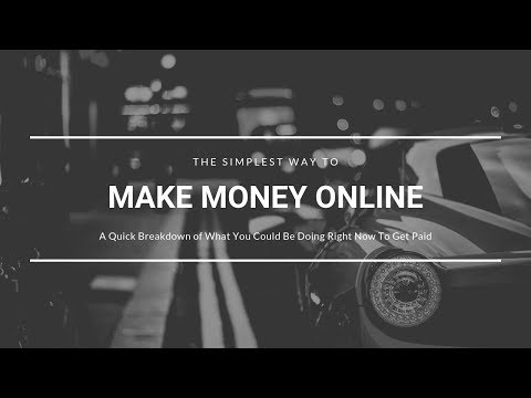 Simplest Way To Make Money Online