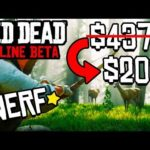 ROCKSTAR JUST NERFED THE BEST WAY TO MAKE MONEY IN RDR2 ONLINE! Red Dead Redemption 2 Online Update!