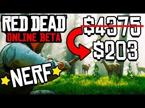 ROCKSTAR JUST NERFED THE BEST WAY TO MAKE MONEY IN RDR2 ONLINE! Red Dead Redemption 2 Online Update!