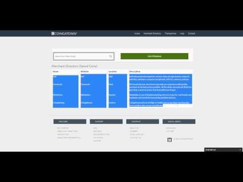 A quick walkthrough of Coingateway.net