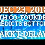 ETH FOUNDER PREDICTS BOTTOM? BAKKT DELAY? BITCOIN BTC, RIPPLE XRP, CRYPTOCURRENCY PRICE + NEWS 2018