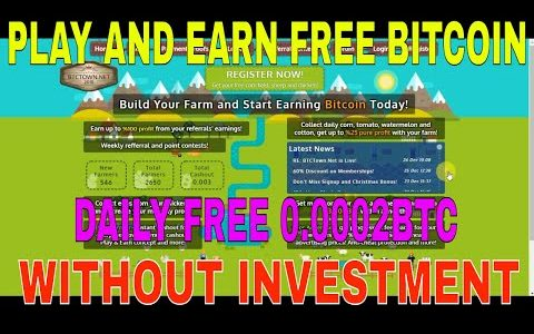 PLAY AND EARN FREE BITCOIN FREE SINIUP BONOUS 0.0002 daily  BTC (WITHOUT INVESTMENT)