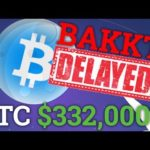 Bakkt Officially Delayed! Bitcoin BTC To $332,000?! (Cryptocurrency Price + Trading + News 2018)