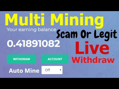 Bitcoin Cloud Mining 2019 Live Withdraw bitcoin-line | multimining Scam or Legit Bitcoin Mining