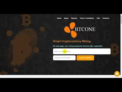 موقع جديد لربح واستثمار البيتكوين  BTCONE | New Bitcoin Auto Mining Site 2019