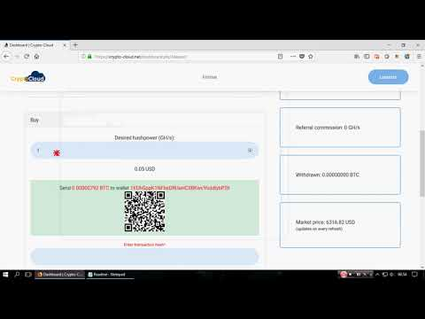 ❌ SCAM CryptoCloud   New Bitcoin Cloud Mining 2018 Free 200 Gh s
