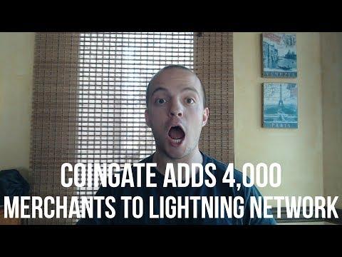 CoinGate Adds 4,000 merchants to Lightning Network! - #Adoption