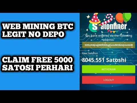 WEB MINING BTC LEGIT NO DEPO DAN NO SCAM