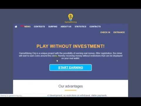 New Free Bitcoin CLOUD Mining Site   gamemining.org    BTC cloud