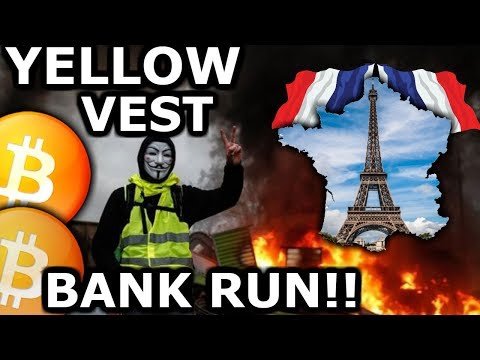 France Yelllow Vest Bank Run! They Will Buy Bitcoin & Crypto! Live Crypto News $ELA $NEO $IOST $ETH