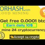 Corhash – new free bitcoin cloud mining site without investment 2019 join and earn bitcoin daily