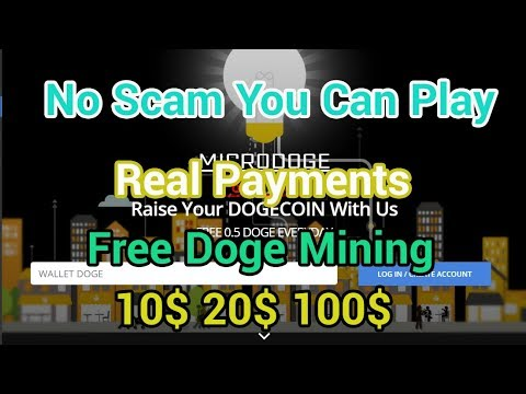 New Free Doge Mining Cloud Microdoge Doge You Can Play Not Scam 2019 Real Payment