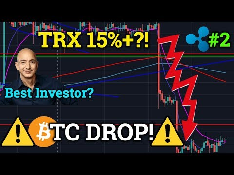 Bitcoin BTC Selloff! Why? Tron TRX HUGE Pump! Ripple XRP #2! Cryptocurrency Trading + News 2019