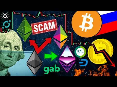 Bitcoin Headed UNDER $1k?!? Ethereum Hard Fork SCAM!!! 50% of ALL $BTC Remains Idle...