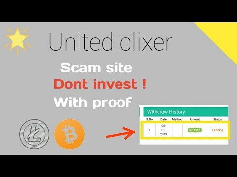 United clixer - review scam or legit dont invest