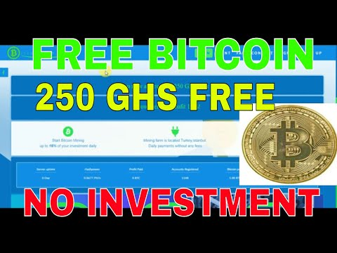 NEW LAUNCH BITCOIN CLOUD MINING 250GHS FREE AUTOMATIC EARN FREE BITCOIN NO INVESTMENT