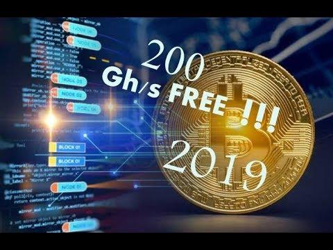 Bitcoin Mining Free 2019||FREE 200Gh/s ||New