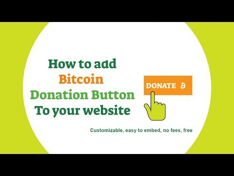 How to embed Bitcoin payment donation button on a website
