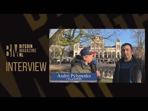 Andrii Pylypenko, CTO at HIPSTO, making an AI based bitcoin news app