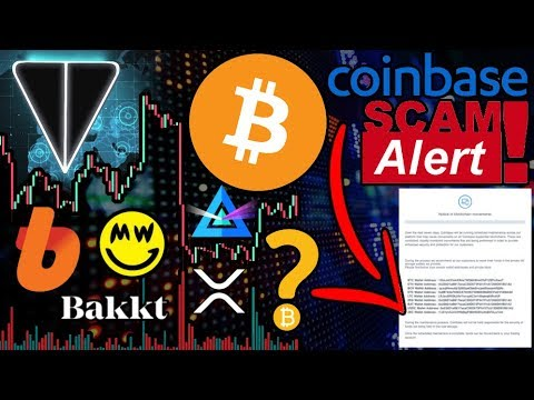 BIG Bitcoin Move Incoming?!? Be Careful! Coinbase Maintenance SCAM! KYC Hack Updates $BTC $XRP $GRIN