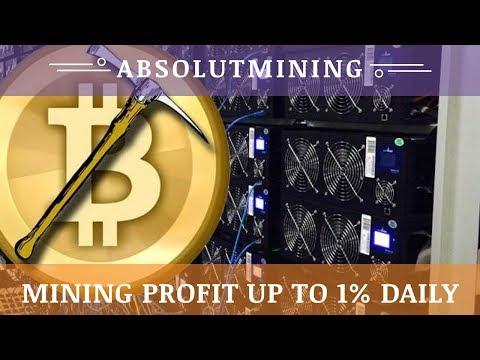 AbsolutMining.com отзывы 2019, mmgp, обзор, Bitcoin Cloud Mining, Profit up to 1% daily