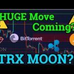 HUGE Bitcoin Move Incoming?! Tron TRX Mooning?! Cryptocurrency News! BTC Price + Trading Analysis!