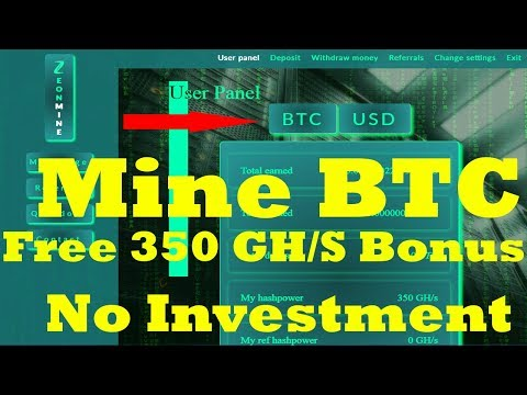 New Free Bitcoin Cloud Mining Site 2019 | 350 GH/S Free Bouns | No Investment