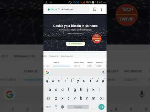 Double Bitcoin Mining Site 0 004 Btc Live Withdrawal Payment Proof 2019 in Bangla