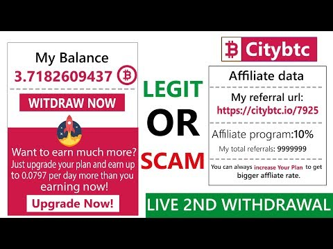 Citybtc.io Free Bitcoin Cloud Mining Site Legit Or Scam Live Payment Proof 2019 in Urdu Hindi