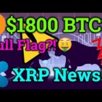 Bitcoin Bull Flag?! Could We See $1800?! Ripple XRP News! BTC/Cryptocurrency Trading + Analysis 2019