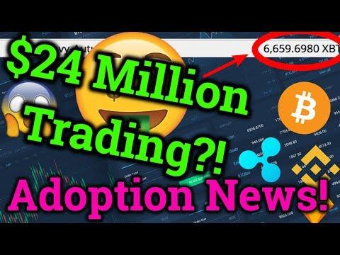 $24 Million Bitmex Trading?! Huge Cryptocurrency Adoption News! Ripple XRP + Bitcoin BTC Analysis