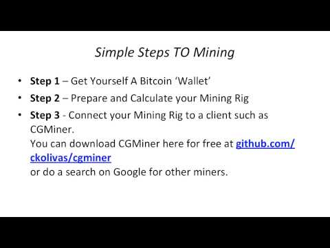 Bitcoin Mining – Simple Steps