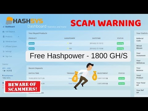 New Free Bitcoin Earning Site 2019 SCAM | 15000 gh/S free Bouns | Live Scam Proof