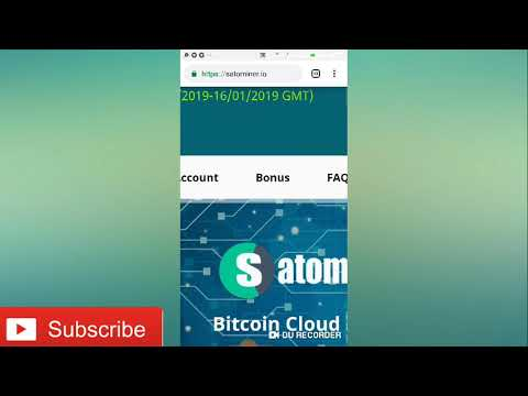 Satominer.io Payment proof 100% 0.00419 BTC - free Bitcoin cloud mining site 2019