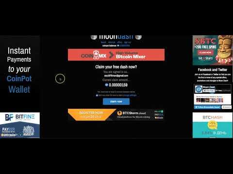 Moon Dash Faucet Best FREE Dash Faucet Free Bitcoin Update Moondash Joins Coinpot
