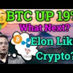 Bitcoin Up 19%! Will It Continue? Elon Musk Praises Cryptocurrency?! BTC Analysis + Trading + News