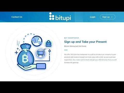 Bitupi - Cloud Mining || New Bitcoin Cloud Mining || Free 300 GH/s Free