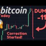 MASSIVE Bitcoin DUMP  11%!!😱 The Rising Wedge Bearish Broke!! The Correction