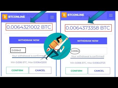 New Free Bitcoin Cloud Mining Site 2019 Live Withdrawal__Btconline.io Payment Proof 2 Withdrawal